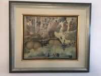 Visions by Kyrillos Veniadis   authentic oil  painting Greek famous artist 1988
