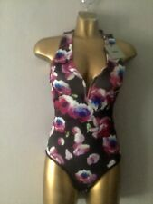 BNWT ASOS zip back plunge neck floral bodysuit size UK8