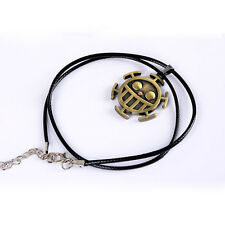 HOT SALE One Piece Trafalgar Law Logo necklace Unisex Chain Pendant Anime Gift