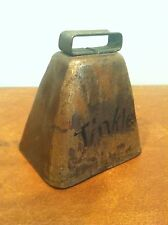 """Antique Vintage Small 4"""" Goat Cow Livestock Bell """"Tinkle"""""""