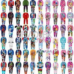 Kids Fleece All in One Boys Girls Character Childrens Pyjamas Age 1-10 Years