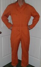 vtg 60s LEE union alls coveralls mechanic 1 piece jump work suit orange M medium