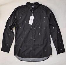 The Weekend Brand Long Sleeve Casual Shirt Size Large Black Maraca Print RP $110
