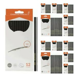 1 cs (12pkg) of 12 Pack Charcoal Pencil - SOFT MED HARD - 144 ct total #CP1ST