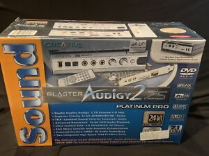 New And Sealed Creative Sound Blaster Audigy2 zs Platinum Pro Plus Rear Panel