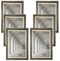 STUDIO 500 6-Pack~12x18-inch Grey Distressed Frames w/Mat to Fit Poster Frames