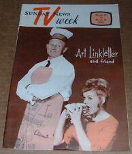 1963 TV GUIDE~ART LINKLETTER~DONNA DOUGLAS~BOBBY BUNTROCK~GLORIA CLYNE