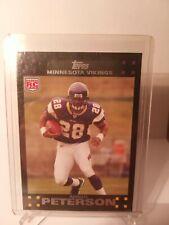 2007 Topps Adrian Peterson Minnesota Vikings #301 Football Card