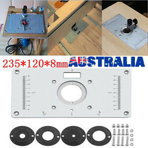 Aluminium Router Table Insert Plate Woodworking Benches Wood Trimmer Tools FAST