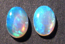 Pair Australian Mintabie Crystal Opal Solid Cut Stones All natural 6x4mm (751)