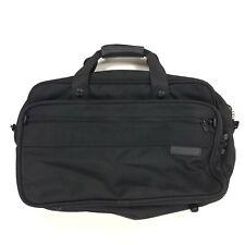 Briggs & Riley Black Messenger Bag 7 Compartments no Shoulder Strap