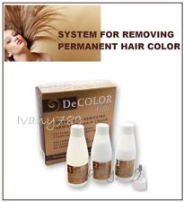 HAIR COLOR REMOVER DECOLOR TIME,No Ammonia, REMOVE COLOR FROM DYED HAIR