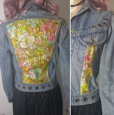 One of a kind Customised Fitted Vintage 1980s Lee Denim Jacket Size Approx 8