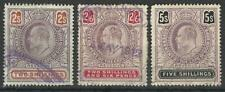 SOUTH AFRICA / CAPE OF GOOD HOPE KEV11 1904 2s,2/6s,5s REVENUES USED