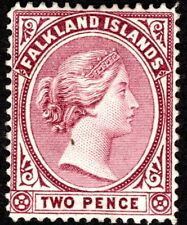 FALKLAND ISLANDS QV 1891 2 PENCE MINT PURPLE CAT VAL ($35)
