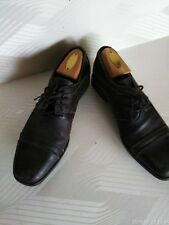 mens Italian Brown Leather shoes sz8 Milord distress factory narrow@4