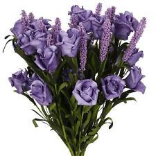 Artificial Rose Fake Lavender Purple 6 Heads Soledi Artificial Flower Bunch Brid