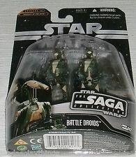 Star Wars SAGA BATTLE DROIDS Action Figure Hasbro FREE US Ship