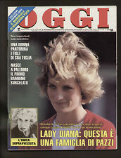 OGGI 16/1987 LADY DIANA MORAVIA GINO PAOLI MUSSOLINI PADRE EZIO TOLLER MARADONA
