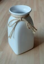 Ports Of Call Collection Jeff Banks White Ceramic Vase Classic Home Decor