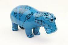 Metropolitan Museum Of Art Mma William Blue Ceramic Hippo Hippopotamus Figurine