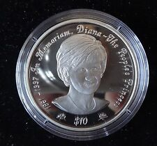 1997 SILVER PROOF NIUE $10 COIN PRINCESS DIANA THE LATEST PORTRAIT