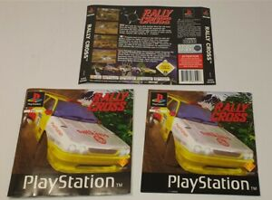 Sony Playstation 1 Rally Cross Front, Back Cover & Manual PAL Version PS1