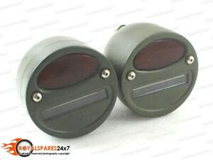 "Willys MB Ford GPW Jeep Truck Military Cat Eye Rear Tail Light 4"" Pair"