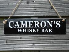 WHISKY DRINKER GIFT HOME BAR BBQ BEER GARDEN  PUB DAD MAN CAVE SHED SIGN NEW