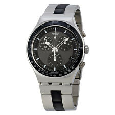 Swatch Windfall Chronograph Stainless Steel Mens Watch YCS410GX