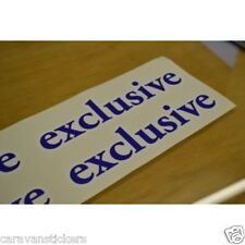 HOBBY 'Exclusive' - (SMALL) - Caravan Name Sticker Decal Graphic - PAIR