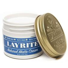 Layrite NATURAL MATTE CREAM Pomade - 120g (Medium Hold and Water Soluble)