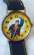 Vintage Adult wind up Superman character watch 1977 Dabs serviced orig band