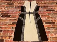 Milly Womens 80% Wool Sleeveless Sheath Dress Black Size 2 Knee Length Womens