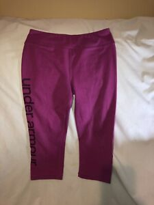 Under Armour Youth Small Pink Athletic Leggings