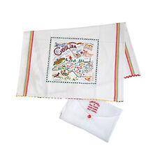 NC North Carolina Catstudio Geography Hand-Woven Cotton Dish Tea Towel
