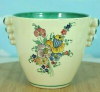 """Vintage Deruta Italy Handmade Italian Pottery 5"""" Vase Hand Painted Floral Ombre"""