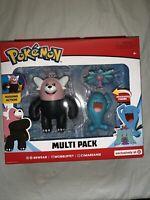 Pokémon Multi Figure Pack (Bewear, Wobbuffet and Mareanie) Target Exclusive New!
