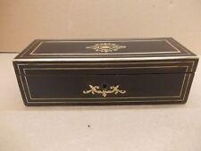 Boîte à gants coffret bois ancien marqueterie laiton Napoléon III