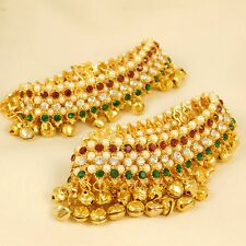Indian Traditional Gold plated Anklet Ghungroo Paayal Wedding Fashion Jewlery