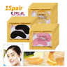 15Pairs Crystal Gold Collagen Under Eye Patches Mask Dark Circles Bags Wrinkles