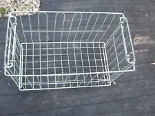 Vintage Greenish and White in Color Metal Wire Basket Bicycle Basket Tray