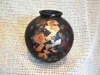 Vintage Studio Art Pottery Chicago Black Vase / Pot Modern Decor by NEO Signed