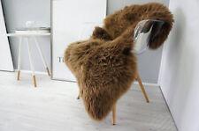 Brand New HUGE Large Brown  Genuine Merino Sheep skin Fur Rug Carpet