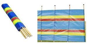 4,5,6,8,10 Pole Caravan Camping Windbreak Windbreaker Beach Garden Holiday outdr