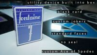 Blue Fontaine Playing Cards Deck Brand New Printed By USPCC Limited