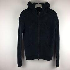 Lululemon Knitted Hoodie Sweater Black Textured Full Zip 6