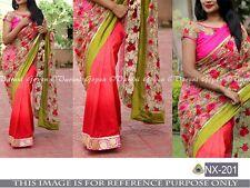 Bollywood Designer Party Wear  Half & Half Heavy Bridal Net & Georgette  Saree