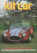 Kit Car magazine 03/1984 featuring DAX Cobra, GTS Tora, Atlantis