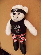 "WWE World Wrestling Entertainment ninja plush stuffed teddy bear 15"" tall WHITE"